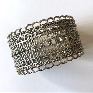 Lucky brand silver tone cuff bracelet